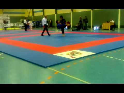 Mohammad libzo fighting at the Abu Dhabi world championship