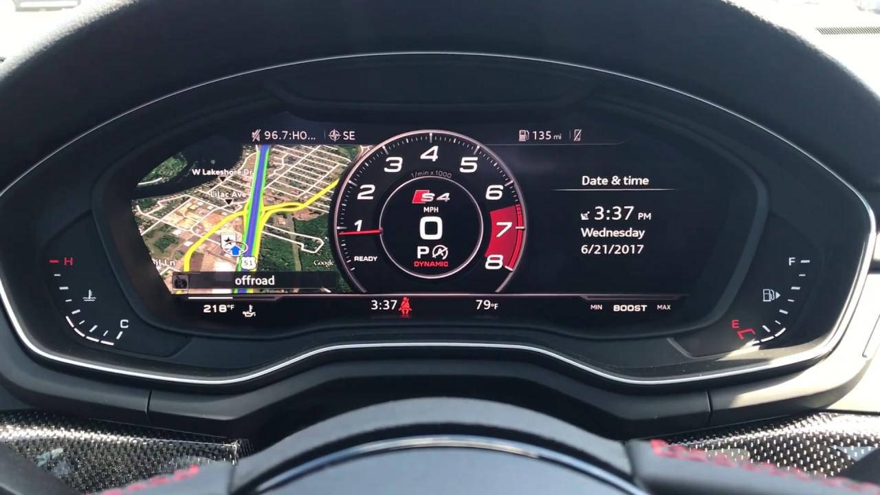 2018 Audi S4 3 0 Turbo Quattro Virtual Cockpit Dynamic