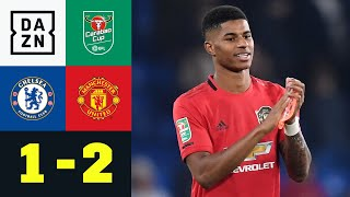 Per Zauberfreistoß! Rashford ballert United weiter: Chelsea - Man United 1:2 | Carabao Cup