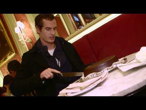 Andy Murray im Café Sacher