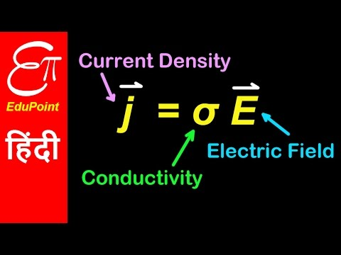 Relation among Current Density, Conductivity and Electric Field | in HINDI | EduPoint