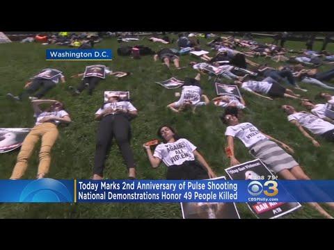 Demonstrators Mark 2nd Anniversary Of Pulse Shooting