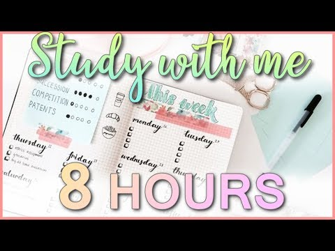 Study With Me - Study Live Stream #161 (8 HOURS) (LET'S DO THIS)