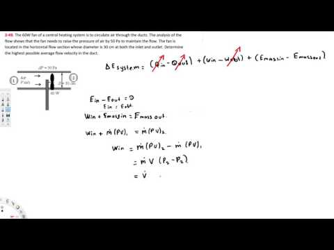 Thermodynamics - Determine the highest possible average flow velocity in the duct