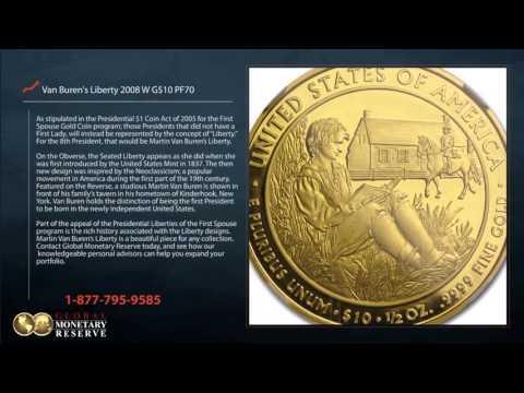 2008 Martin Van Buren First Spouse Gold Coin, Proof