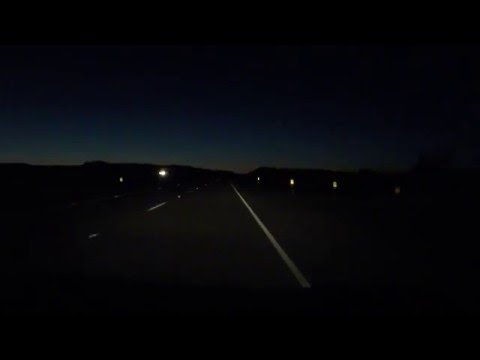 Entering Pacific Time Zone, Needles, California, Interstate 40, 16 December 2015