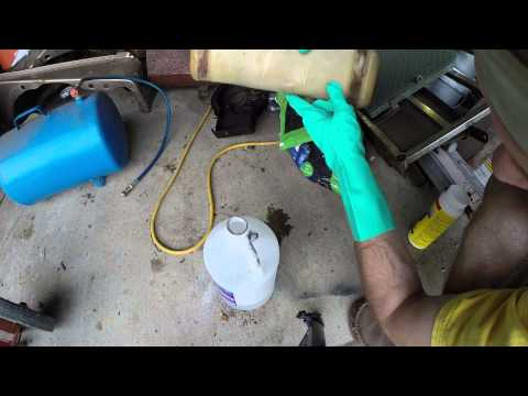 How to remove old gelled gas from a tank