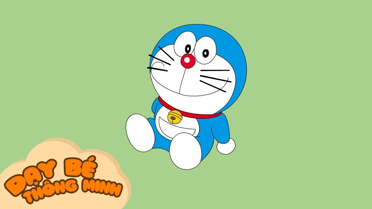 Bé tập vẽ tranh | Hướng dẫn học vẽ nhân vật hoạt hình doremon bằng bút chì | Dạy bé thông minh