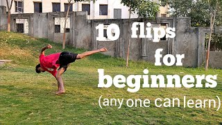 10 Basic flips aฑd trick /anyone can learn (for beginners)