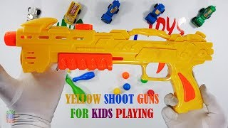 Yellow Shoot Gun Toys For Kids Playing - Gun Toys Video For Kids