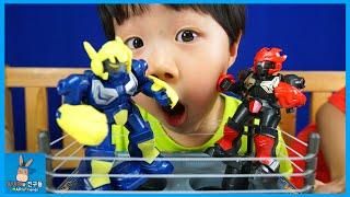 미래의 로봇 권투 대결 시작된다! 형의 복수는 나의 것 ♡ 액션 복싱 배틀 KO로봇 파이터 장난감 놀이 KO Robot Toys | 말이야와친구들 MariAndFriends