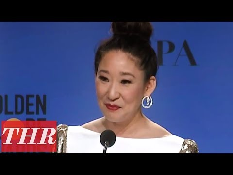 Golden Globes Winner Sandra Oh Full Press Room Speech | THR