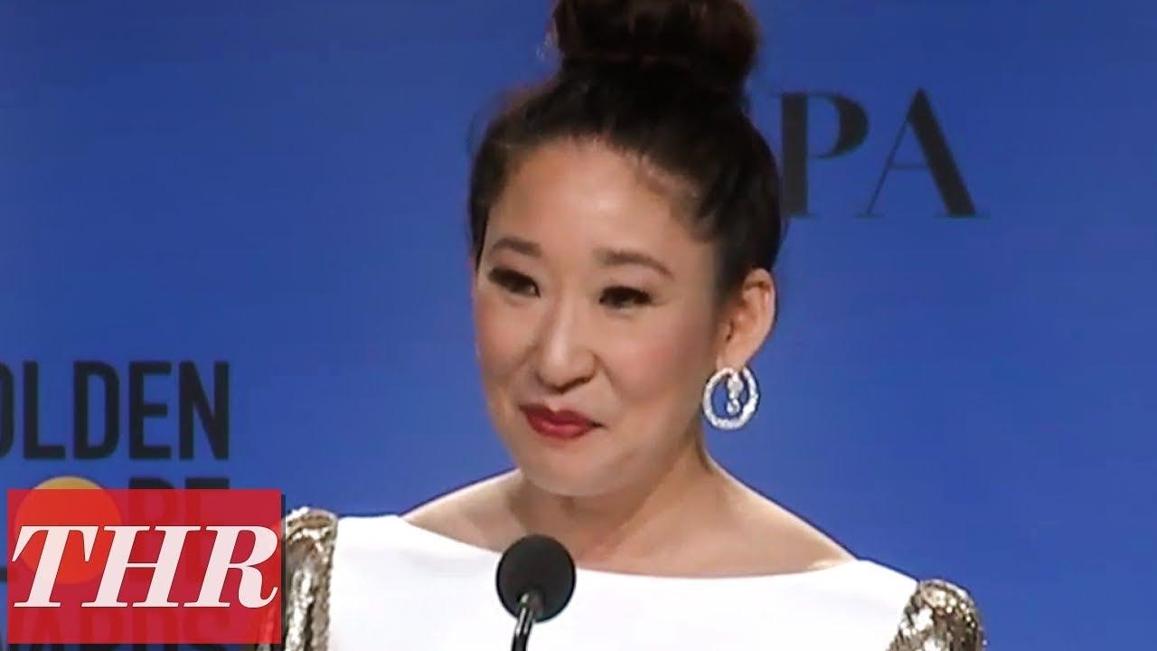 Golden Globes Winner Sandra Oh Full Press Room Speech | THR