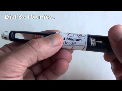 How to use FlexTouch Insulin Pen for injecting Novorapid (Novolog) and Degludec (Tresiba) Insulins
