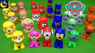 Lots of Paw Patrol Toys Air Rescue Mini Figures Super Hero Mashems Blind Bag Surprise Toys Video!