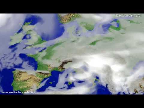 Cloud forecast Europe 2018-02-18