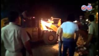 حملة ليلية لإزالة الباعة الجائلين والمخالفات بمدينة شبين القناطر