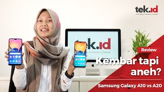 Review dua hape Samsung kembar Galaxy A10 vs A20, tapi kok aneh sih?