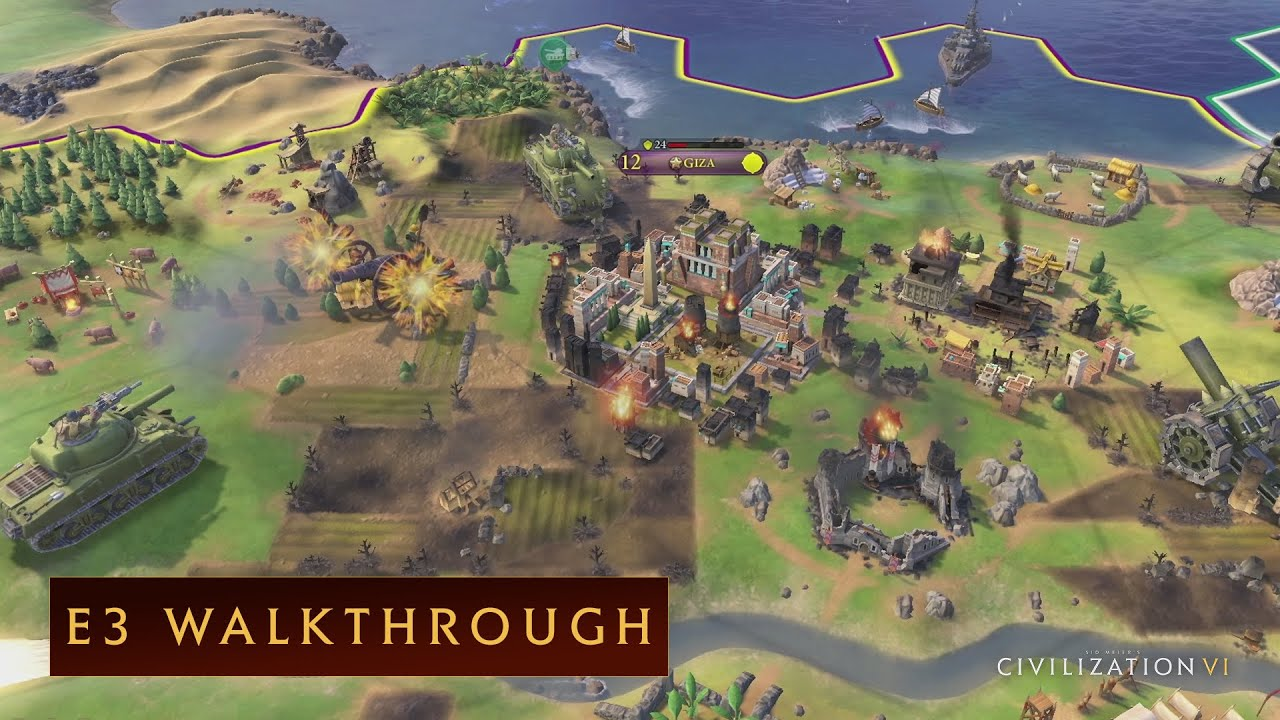 Civilization Vi E3 2016 Walkthrough Youtube