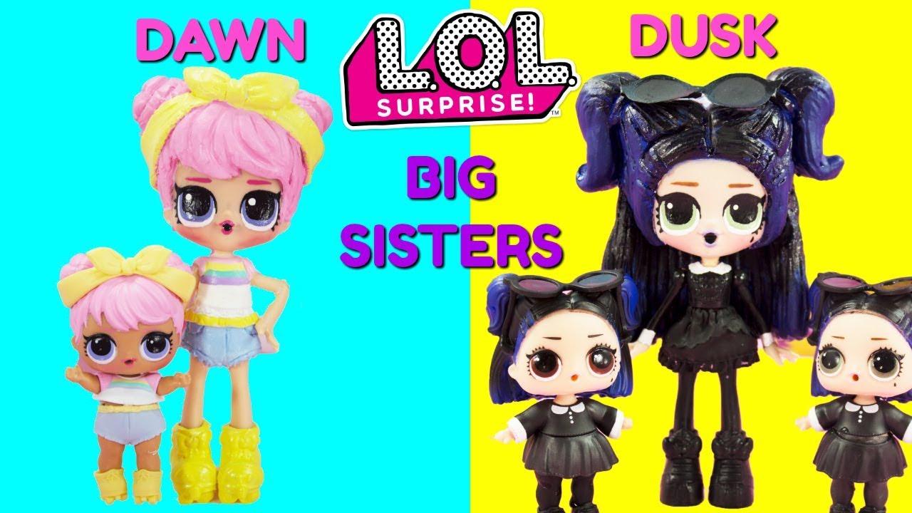 Lol Surprise Dawn Dusk Big Sisters Compilation Diy Shopkins