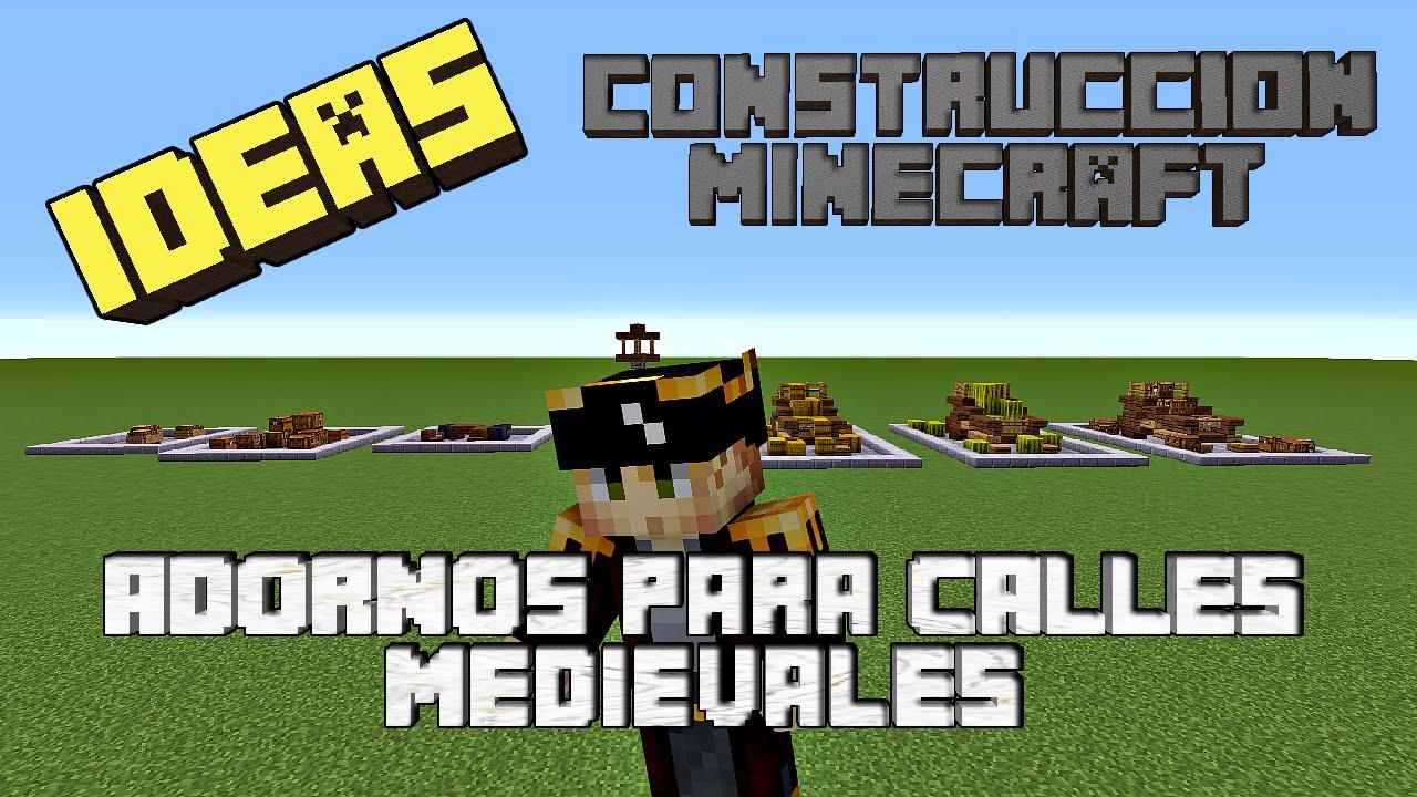 Ideas De Construcción Minecraft Adornos Calles Medievales