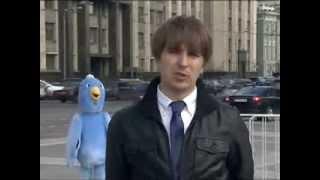 «Птица счастья» сорвала эфир  журналисту 5 канала в Москве
