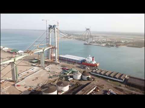 Maputo bridge - drone flight - September 2017