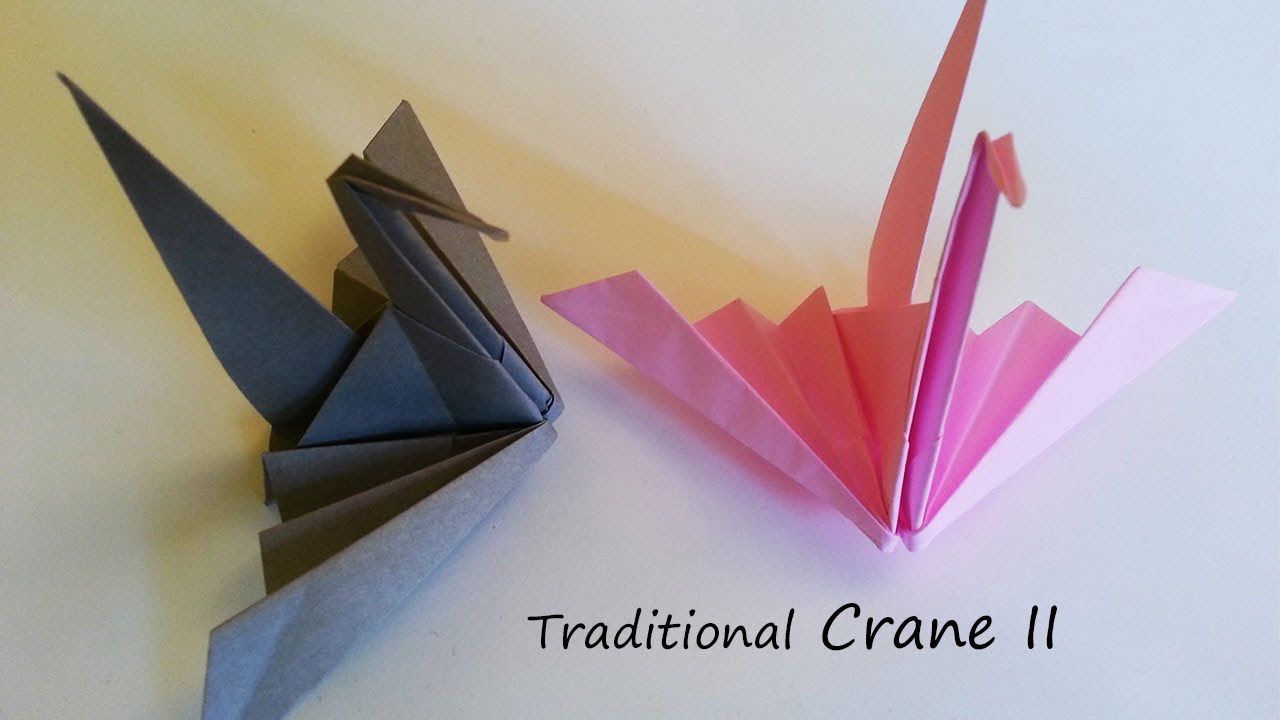 Traditional origami crane ii tutorial youtube for Crane tutorial
