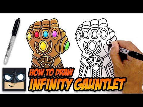 how-to-draw-infinity-gauntlet-|-the-avengers-|-step-by-step