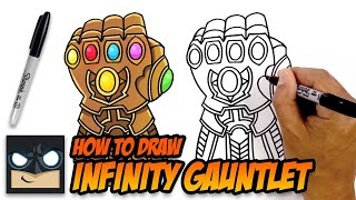 How to Draw Infinity Gauntlet | The Avengers | Step by Step