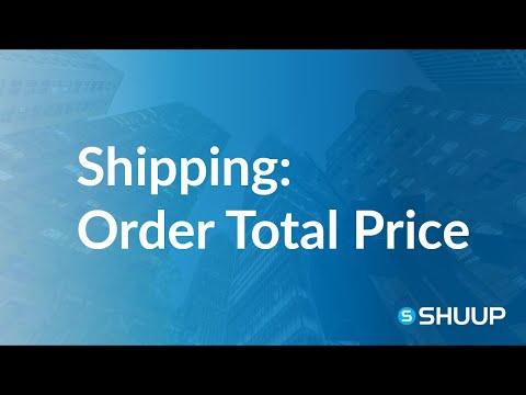 Shipping Methods Behavior: Order Total Price Limit