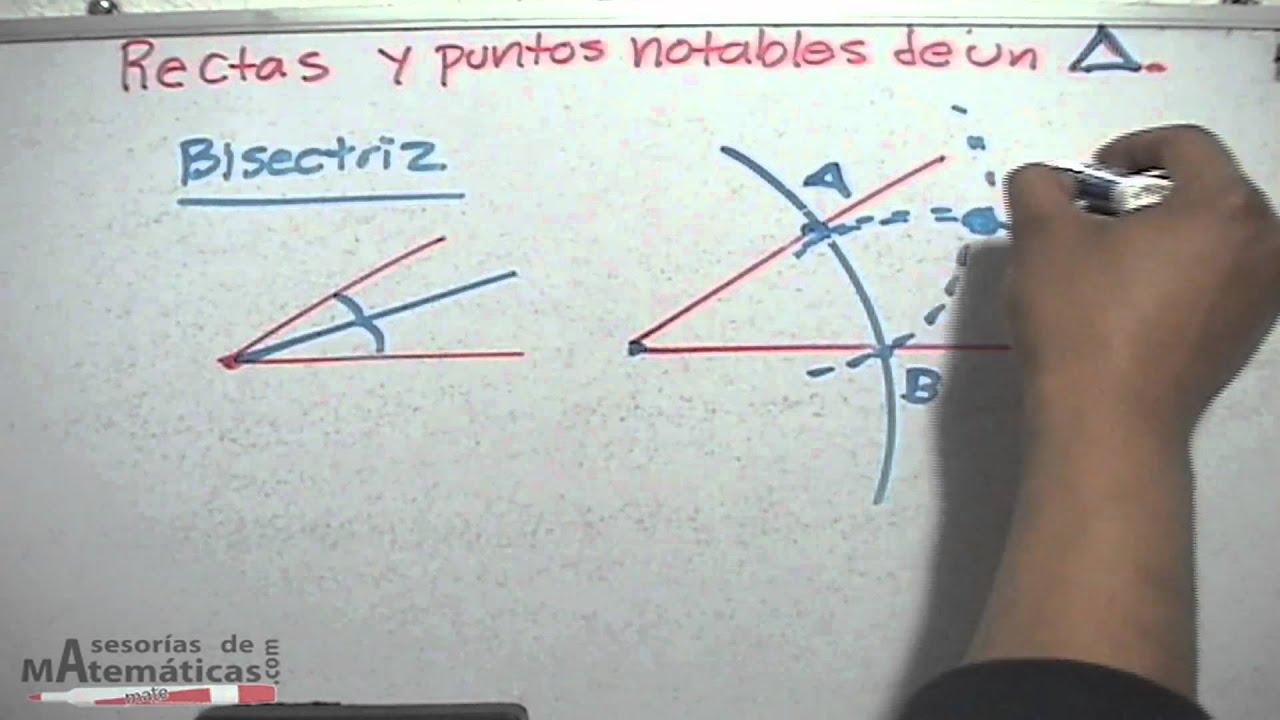 Bisectriz (punto notable de un triángulo) - HD - YouTube