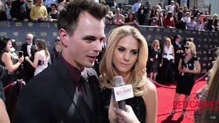 Darin Brooks & Kelly Kruger @BandB_CBS Interviewed at the 42nd Daytime Emmy Awards #DaytimeEmmys