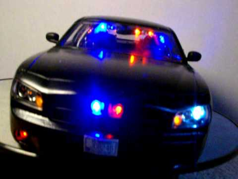 Dodge Charger Police Car >> 1/18 Black Dodge Charger Slicktop Undercover FBI, CIA ...