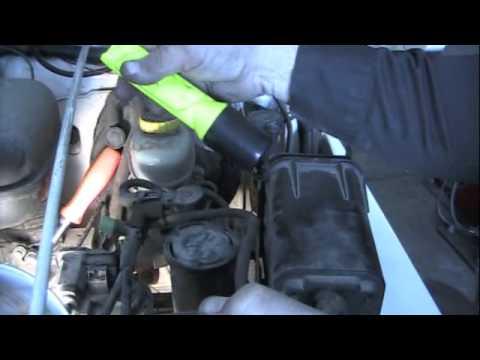 Evap large leak smoke test  YouTube