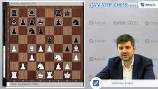Duda - Kramnik, Tata Steel 2019: Svidler's Game of the Day