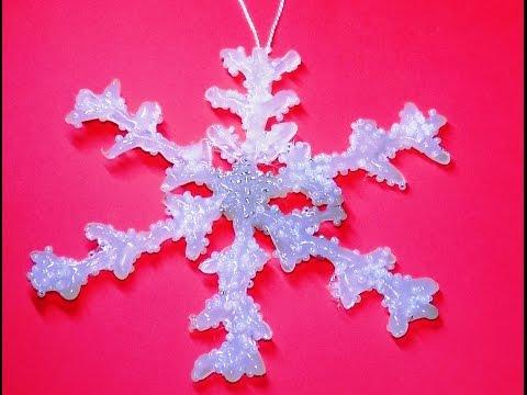 Новогодняя игрушка своими руками  Снежинка на елку