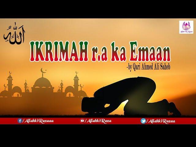 IKRIMAH r.a BIN ABU JAHAL ka Waqia  by Qari Ahmed Ali Saheb