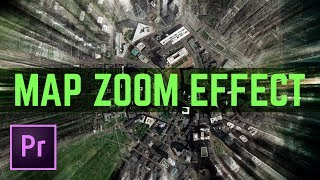Map Zoom to Sky Effect – Fake Drone Video Transition Effect – Premiere Pro Tutorial