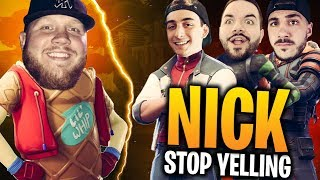 GETTING BULLIED BY NICKMERCS, COURAGE - CLOAK!! Je n'ai jamais YELLED SO MUCH! - Fortnite Bataille Royale