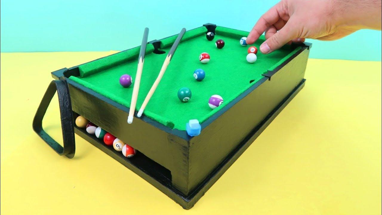 Juguetes Caseros Como Hacer Un Billar En Miniatura Con Carton Youtube