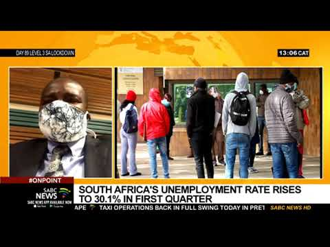 South Africa's unemployment rate rises to 30.1% in the first quarter: Risenga Maluleke