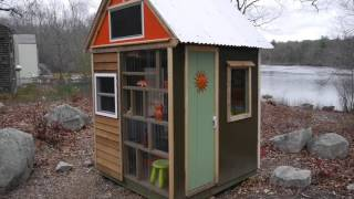 Cub Scouts build a Tiny Cabin w/Tiny House Builder in MA.....