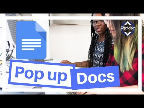 How to add a Pop up message in Google Docs