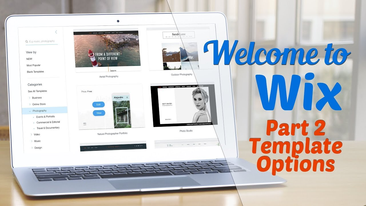 Welcome to WIX Part II: Template Options - YouTube