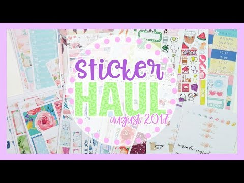 Sticker Haul ♥ August 2017