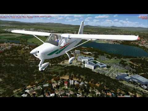 (YSCB) Canberra IAP, Australia.  Tecnam P92 Eaglet LSA.  FSX and ORBX Scenery
