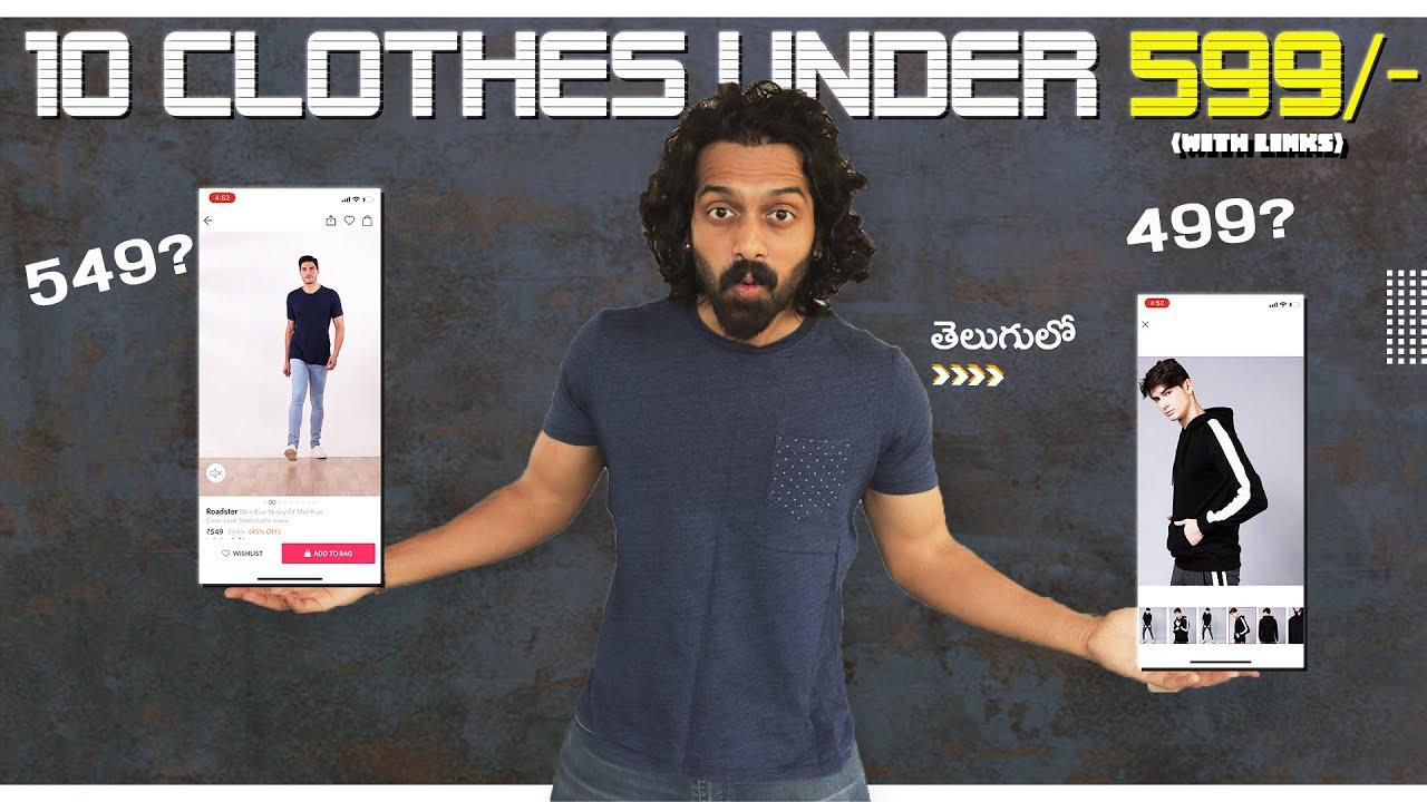 TOP 10 STYLISH Versatile Clothes Under 599/-  | Men's Fashion Telugu | Aye jude!