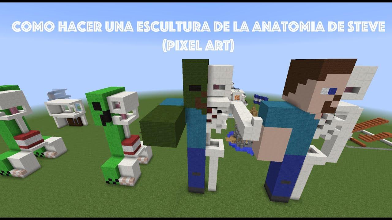 Como Hacer Una Escultura De La Anatomia De Steve (Pixel Art) - YouTube