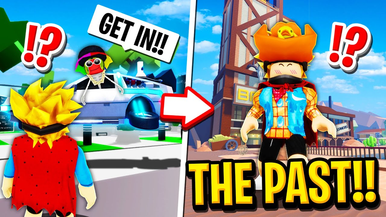We Time Travelled to the PAST in Roblox BROOKHAVEN RP!! (Funny)